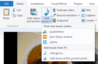 windows movie maker not playing sound