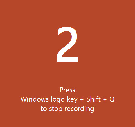 PowerPoint Screen Recording Countdown