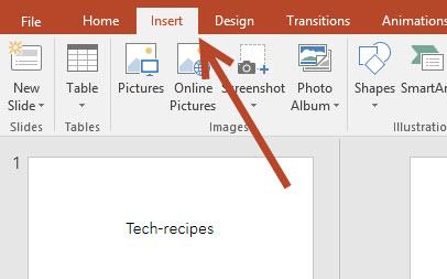 PowerPoint Insert tab