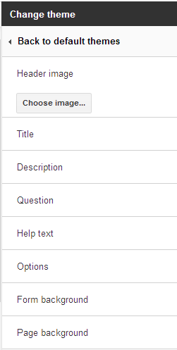 Google Form Custom Themes