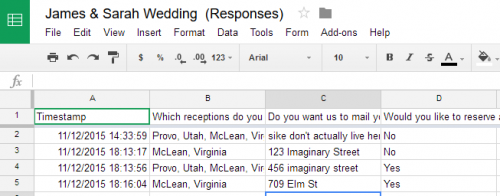 Google Forms View Responses in Sheets