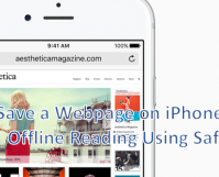 Save a Webpage on iPhone for Offline Reading