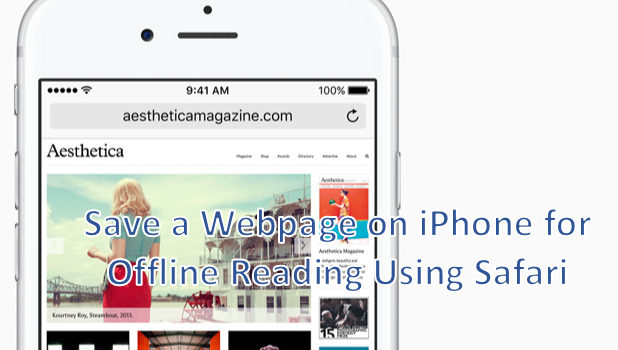 how to save webpage as pdf on iphone