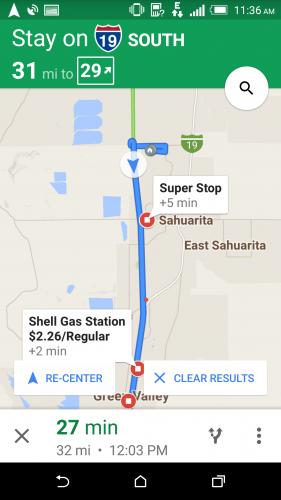 Google Map Gas