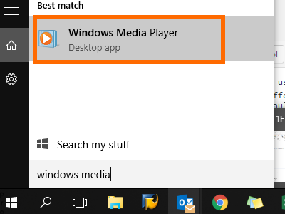 Windows 10 Media Player