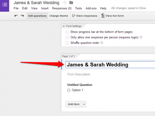 Google Forms name