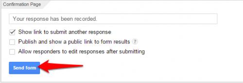 Google Forms send