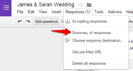 Google Forms responses