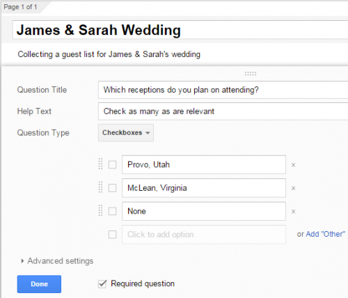 Google Forms Questions