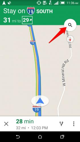 google maps search gas