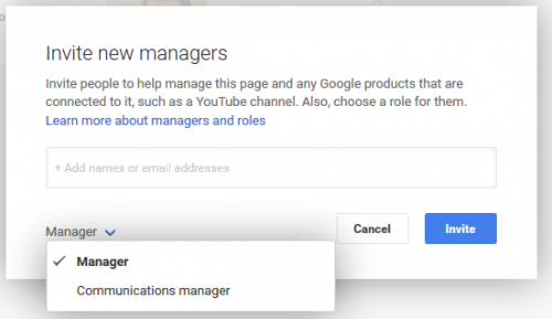 Google + add manager