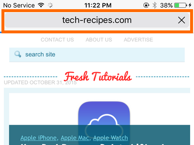 iPhone - Safari - Address Bar