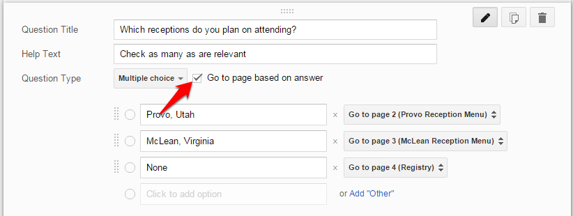 Google Form Page Routing
