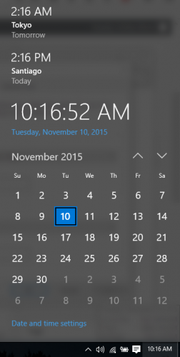 Windows 10 add clock
