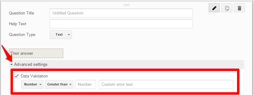 Google Form Validation