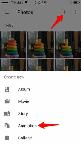 Create Google Photos Animation