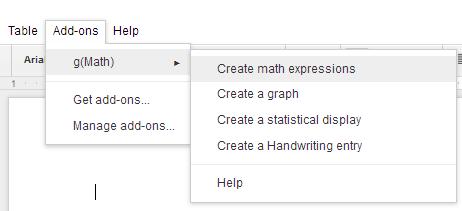 Google Doc Math Add On
