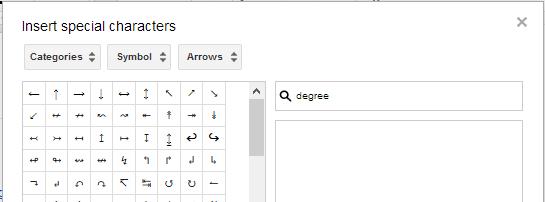 Google Docs Arrows