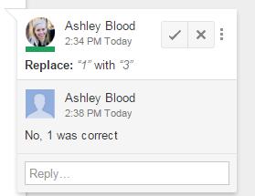 Google Docs reject edits