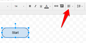 Google Drawings add text