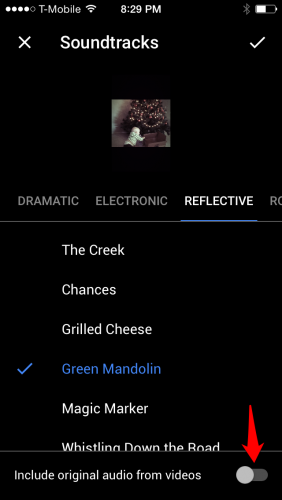 Google Photos Movie Soundtrack