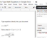 How to Type Math Equations in Google Docs