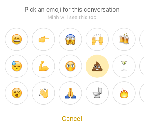 Facebook messenger set emoji