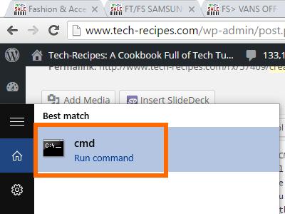 Open CMD fro best match