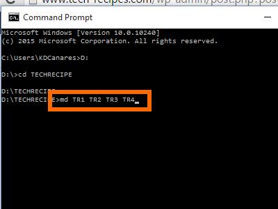 create multiple folder commands in CMD