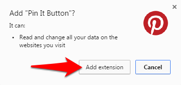 Add Pin It Button Chrome