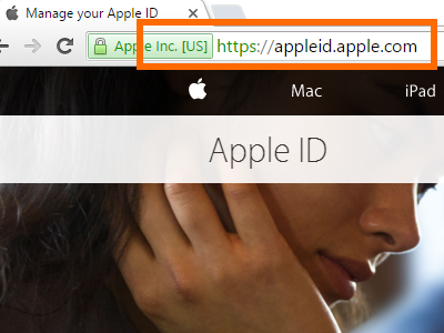 Apple ID Creation site