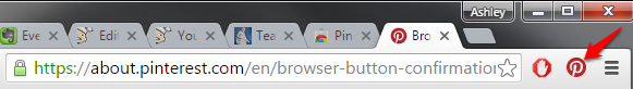 Chrome Pinterest Button