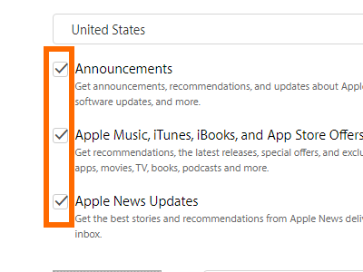Create your Apple ID - choose to get announcements