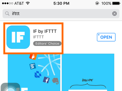 Download IF by IFTTT on the App Store