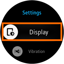 Galaxy Gear S2 - Settings - Display