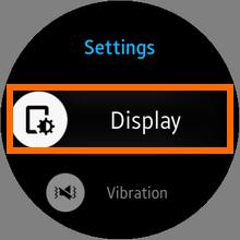 Galaxy Gear S2 - Settings - Display