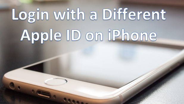 Login with Another Apple ID on iPhone