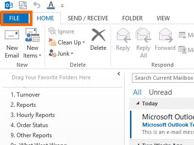 Microsoft Outlook - File