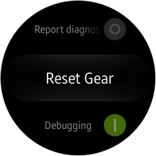 Samsung Galaxy Gear S2 - Settings - Reset Gear