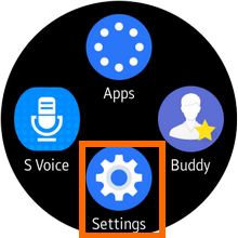 Samsung Galaxy Gear S2 - Settings icon
