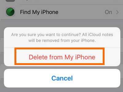 Settings - iCloud - Delete on My iphone