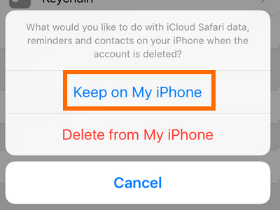 Settings - iCloud - Keep on My iphone
