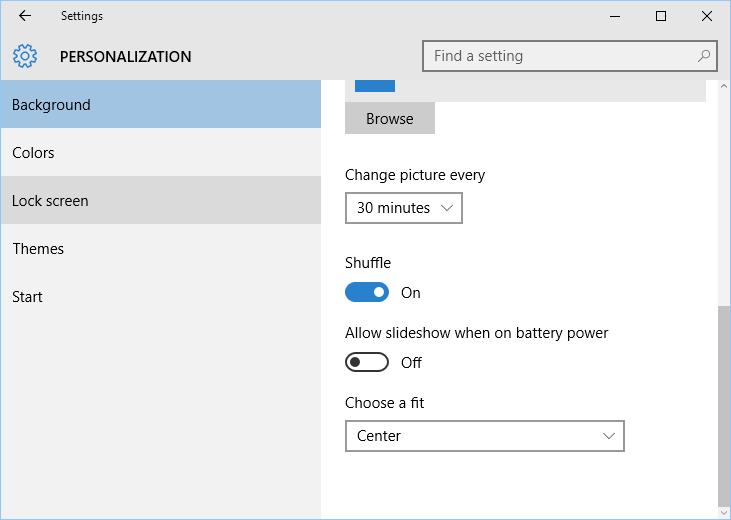 Windows 10 desktop personalization