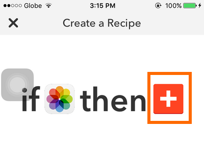 iPhone IFTTT - Create Recipe - Action