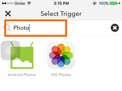 iPhone IFTTT - Create Recipe - Trigger - Filter Trigger