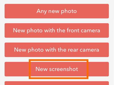 iPhone IFTTT - Create Recipe - Trigger - iOS Photos - New Screenshot