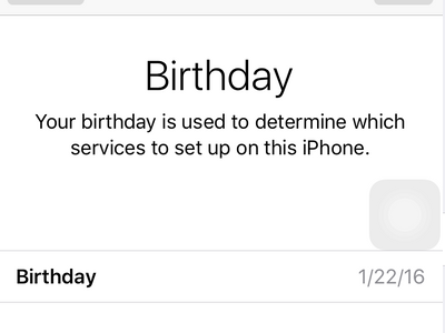 iPhone Settings - iCloud - Create a New Apple ID - Enter birthday