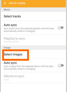 Android - apps - Samsung Gear - Select Images