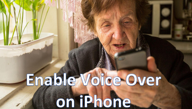 Enable Voice Over on iPhone