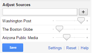 Google News adjust sources